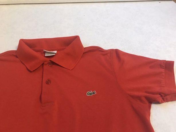 Lacoste koszulka 4 polo S bluzka czerwona oryginalna