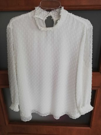 Koszula bluzka biała elegancka Reserved