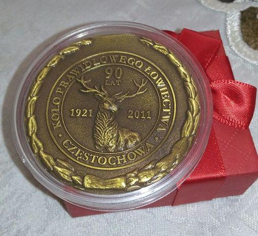 moneta kolekcjonerska 90 lecie Koła Prawidłowego ŁOWIECTWA