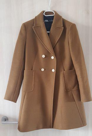 Płaszcz z domieszką wełny Zara