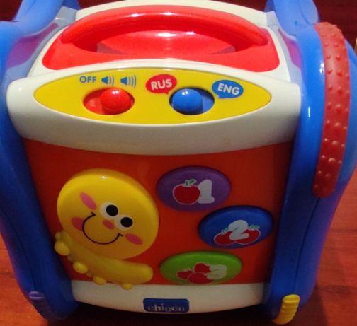 Говорящий куб - Chicco, развивающая игрушка для детей от 6 месяцев