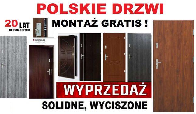 Wejściowe DRZWI do mieszkania - Antywłamaniowe, Zewnętrzne z montażem.