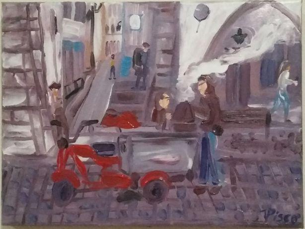 Pintura vendedor de castanhas/ Évora