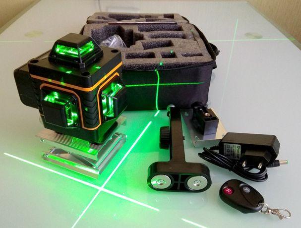 Лазерный уровень 16 линий 4 плоскости нивелир с пультом