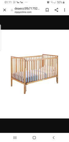 Cama de bebé madeira 120x60