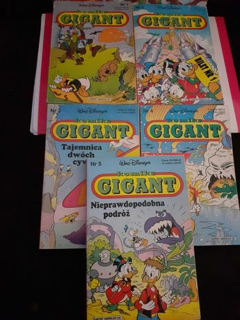 Komikks gigant kaczor donald 1 pierwsza seria 1992,1993,1994