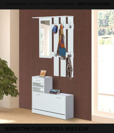 Garderoba, lustro, wieszak i szafka na buty
