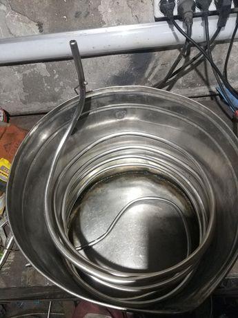 Не проточный холодильник (змеевик) дистиллятора без перегонного куба