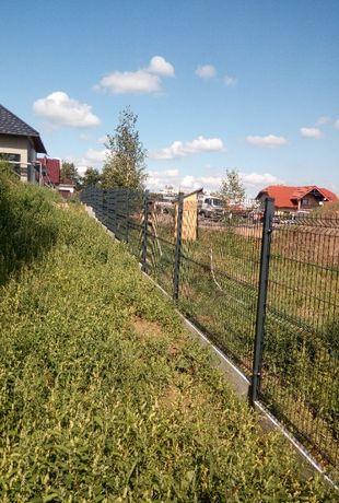 Słupek ogrodzeniowy 60x40x1,3 2m czarny