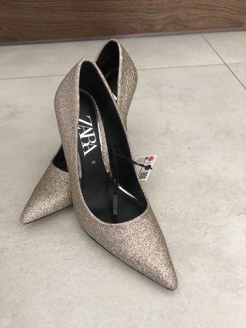Szpilki Zara roz 36-multikilor-nowe