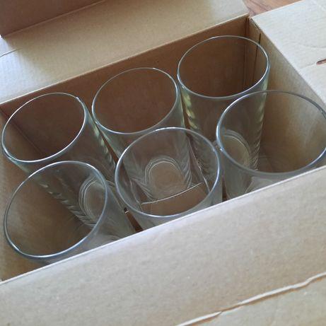 Стеклянные стаканы 6 штук
