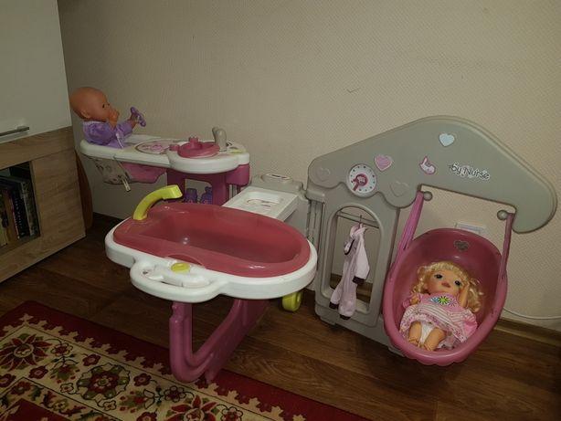 Игровой центр smoby baby nurse кухня кровать  ванная born alive