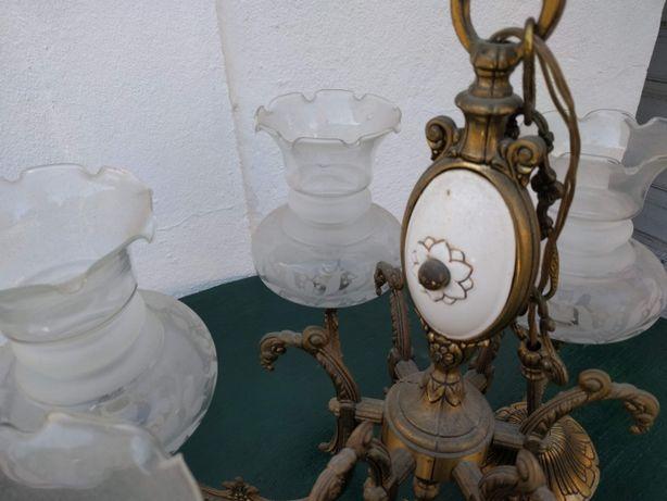 Candeeiro de tecto de 6 lâmpadas - Antigo
