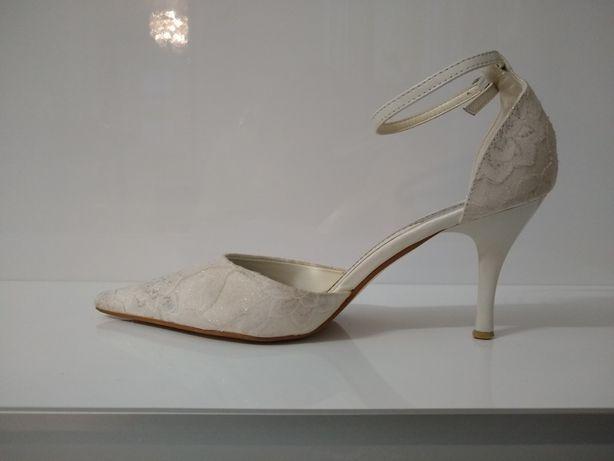 Buty ślubne kremowe r 38