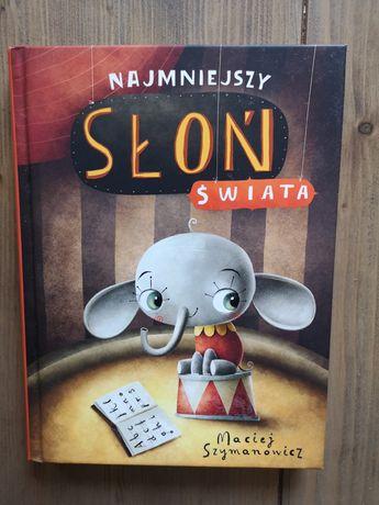 """Książka pt. """"Najmniejszy słoń świata""""."""