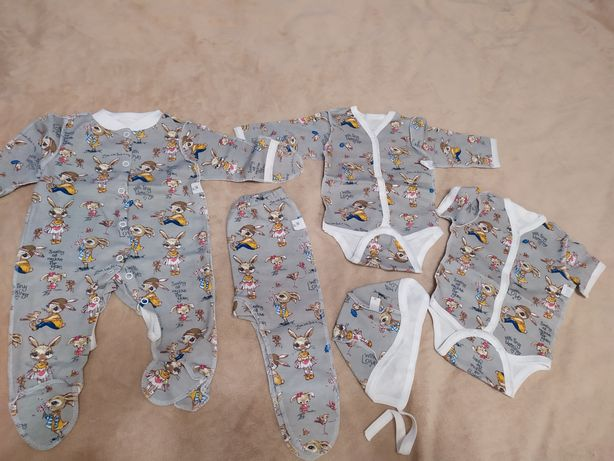Набор новорожденного, человечек, бодик, ползунки  50-56см