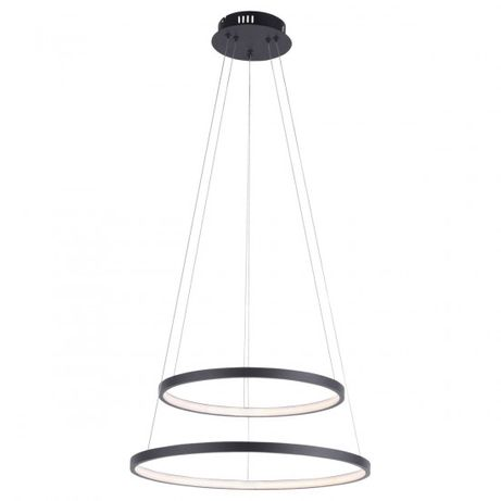 Nowość 2020 wisząca lampa LED CIRCLE 11525 koła ringi czarn antracyt