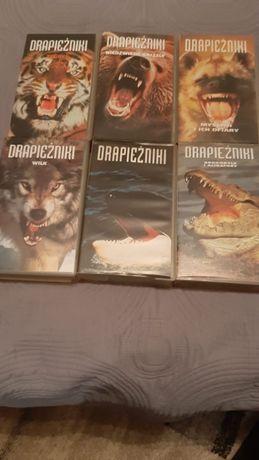 "kasety VHS ""Drapieżniki"" 6 częsci"