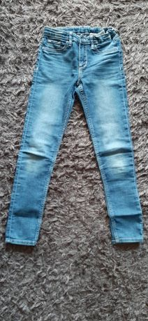 Granatowe jeansy z regulacja - SKINNY FIY&DENIM, rozmiar 140, 9-10lat