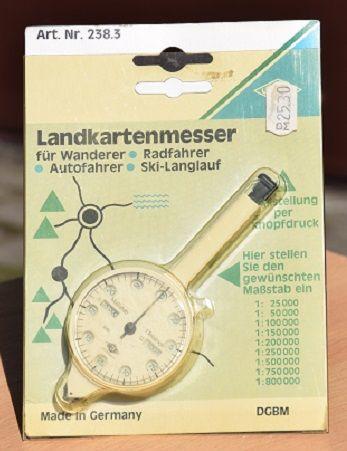 przyrząd do mierzenia odległości na podstawie mapy / skala/ - niemieck