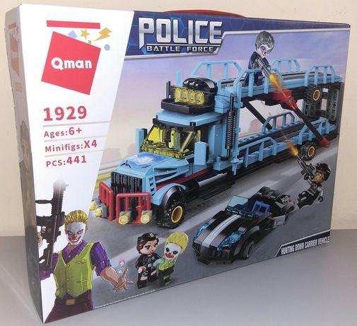 """Конструктор Полиция Brick 1929 """"Ограбление автовоза"""" 441 дет. Лего."""