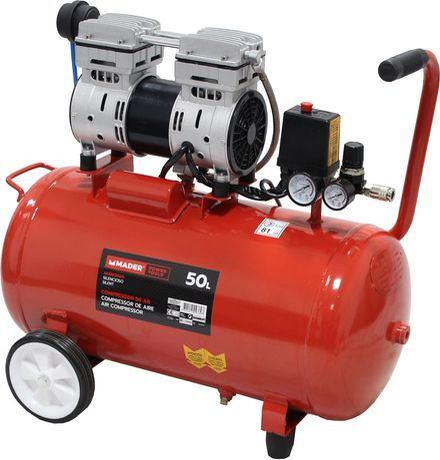 Compressor de Ar Silencioso 50L 1HP - MADER® | Power Tools
