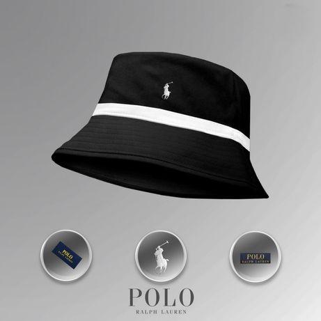 Панама Polo Ralph Lauren (Чёрно-белая)