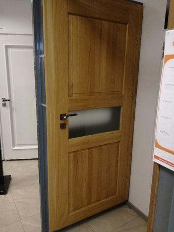 Drzwi wewnętrzne drewniane-dębowe