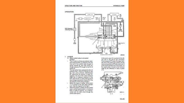 KOMATSU PW 130 pw130 es -6k instrukcja napraw i obsługi
