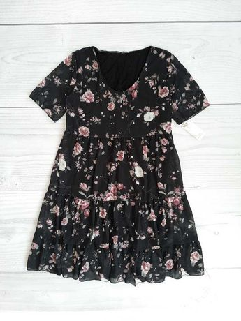 Нежное шифоновое платье. Размер 44-46. Италия