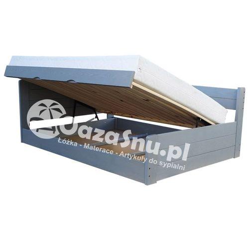 łóżko otwierane na bok ze skrzynią i pełnymi szczytami LOCA 160x200