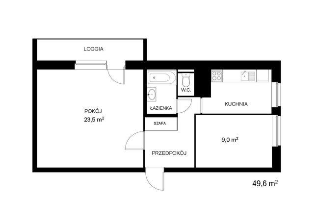 Mieszkanie 2-pokojowe, 50 m2, Piątkowo, winda