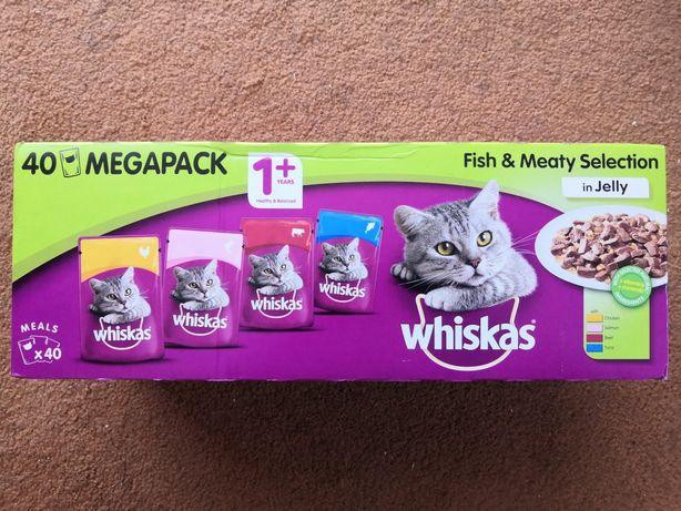 Whiskas 40 szt saszetek dla kota w galarecie
