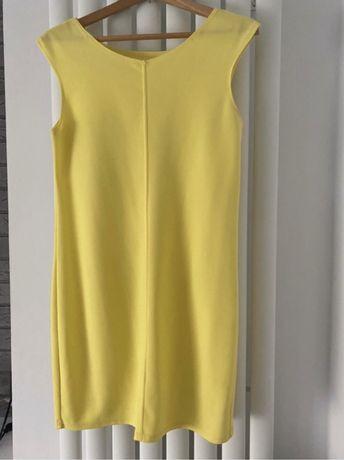 Sukienka elegancka klasyczna neon