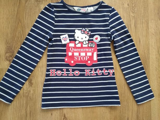 Bluzka H&M 110/116 Hello Kitty