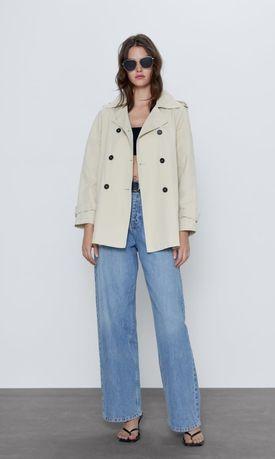 Укорочений тренч Zara розмір XL