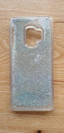 etui obudowa na telefon samsung galaxy s9 srebrna brokat przeźroczysta