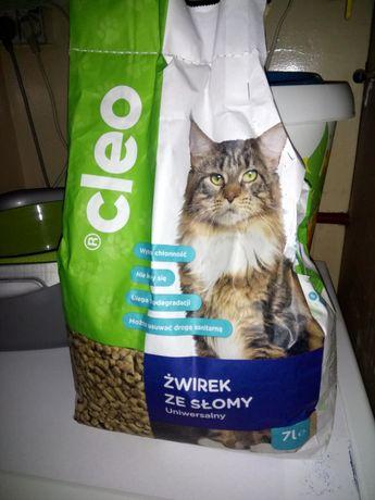 Żwirek ze słomy dla kota, królika, nowe opakowanie 7 litrów