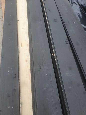 Deska elewacyjna skośna jednostronnie malowana (czarna)