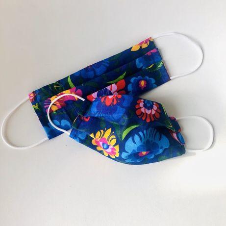 Maseczka bawelniana miękka gumka - dla doroslych i dzieci