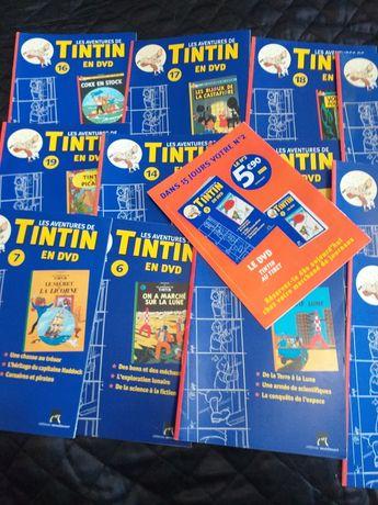 Colecção de fascículos e livros do TINTIN 1980/90's