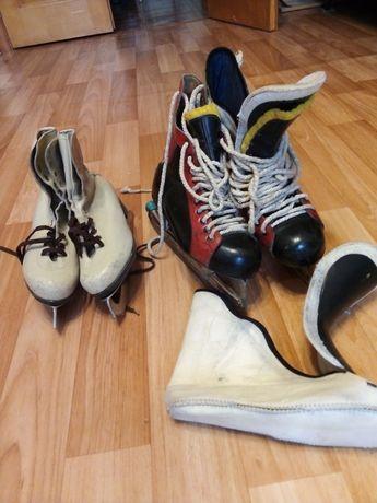 Коньки хоккейные мастерские фигурные
