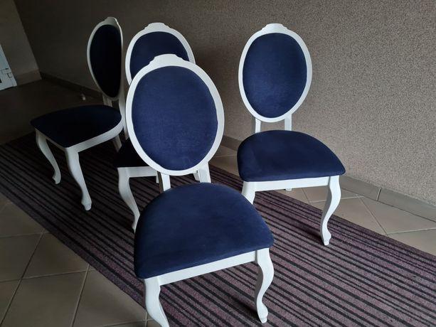 Krzesła 4 szt medalion glamour (używane okazjonalnie)