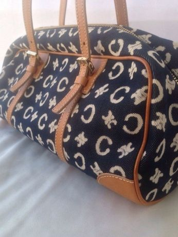 Шикарная сумка джинс кожа Celine Dior Gucci Италия оригинал