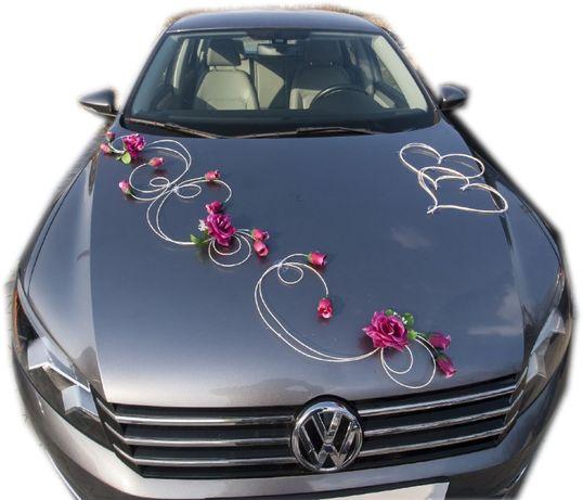 Dekoracja samochodu ozdoba na auto do ślubu NR.52 DOWOLNY KOLOR