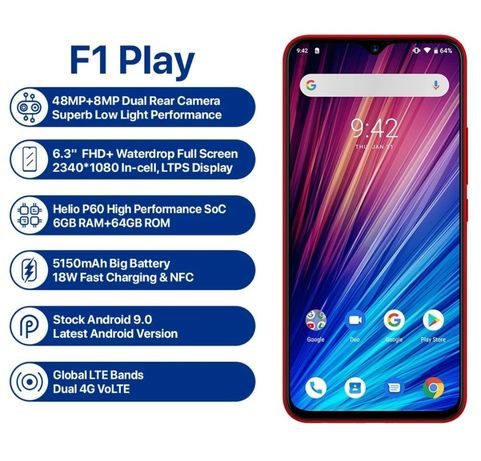 Umidigi F1 Play 6/64  NFC