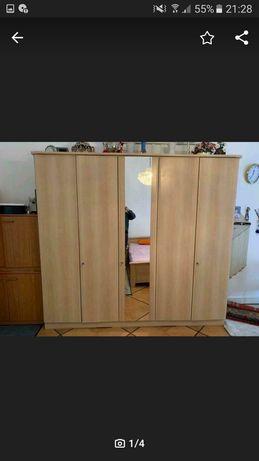Sypialnia komplet szafa szafki łóżko