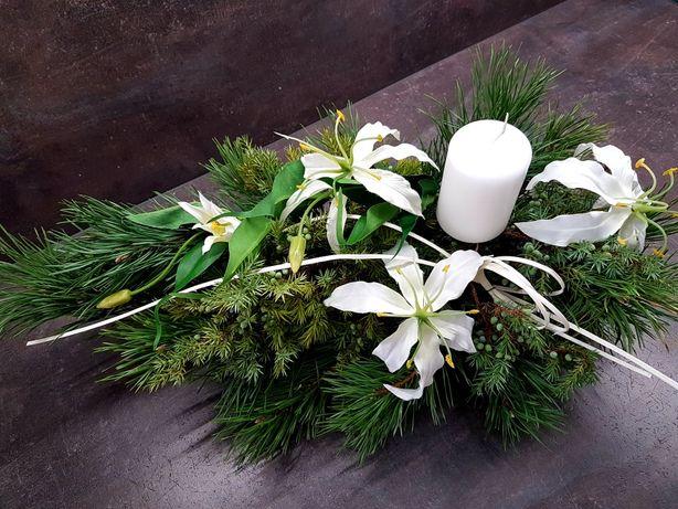 wiązanka kompozycja kwiaty na grób