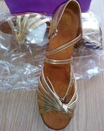Buty do tańca złote r. 30