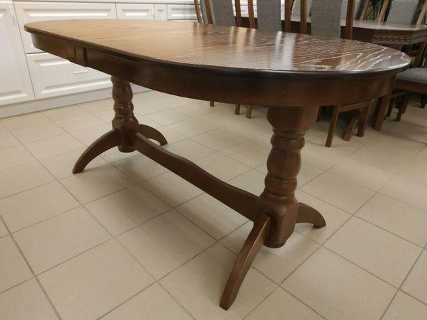 Дерев'яний стіл гостинний розкладний 160х90+40 овальний в гостинну